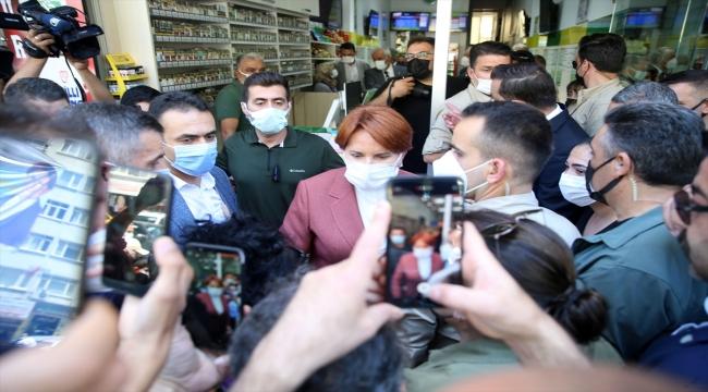 İYİ Parti Genel Başkanı Akşener Malatya'da esnaf ziyareti gerçekleştirdi: