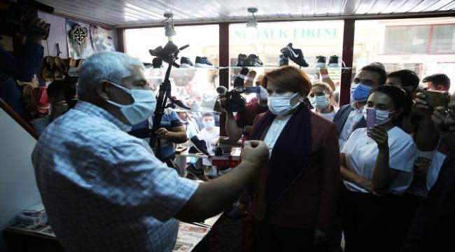 İYİ Parti Genel Başkanı Akşener, Malatya'nın Doğanşehir ve Akçadağ ilçelerinde esnafı ziyaret etti: