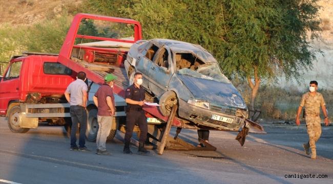 Kayseri - Ankara karayolunda refüje çarpan otomobil devrildi: 5 yaralı
