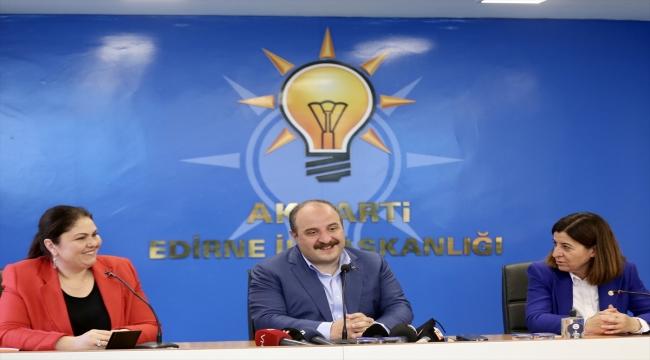 Sanayi ve Teknoloji Bakanı Mustafa Varank, AK Parti Edirne İl Başkanlığını ziyaret etti: