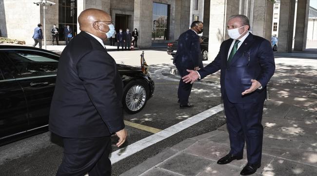 TBMM Başkanı Şentop, Zimbabve Ulusal Meclis Başkanı Mudenda ile görüştü