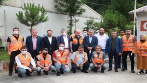 Ulaştırma ve Altyapı Bakanı Karaismailoğlu İyidere ve İkizdere tünellerinde incelemelerde bulundu: