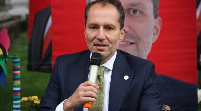 Yeniden Refah Partisi Genel Başkanı Erbakan, Kayseri'de gündemi değerlendirdi