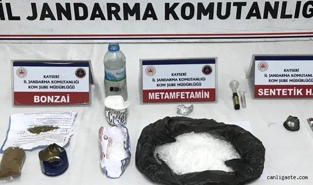 Yeşilhisar'da jandarma uyuşturucu operasyonu: 2 kişi yakalandı