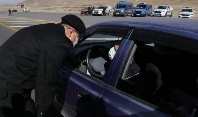 Erciyes'te jandarmadan trafik denetimi