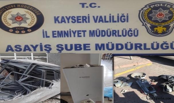 Kayseri'de iş yerlerinden hırsızlık yapan 2 zanlı tutuklandı