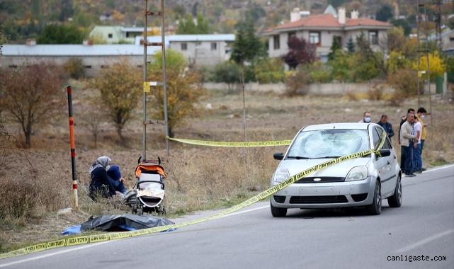 Kayseri'de yürüyüşe çıkan ailesinin yanında otomobil çarpan bisikletli çocuk hayatını kaybetti