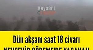 Nevşehir Göreme'de Kum Fırtınası
